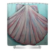 Pink Clam Shell Shower Curtain