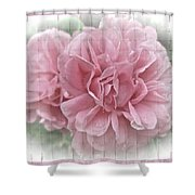 Pink Climbing Roses Shower Curtain