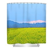 Pink Cloud Over The Mustard Fields Shower Curtain