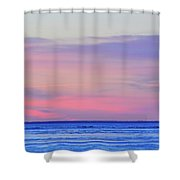 Pink Clouds Above The   Shower Curtain