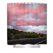 Pink Clouds Over Arizona Shower Curtain