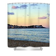 Pink Clouds Over Sicily Shower Curtain