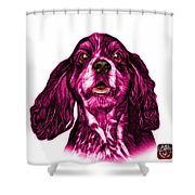 Pink Cocker Spaniel Pop Art - 8249 - Wb Shower Curtain