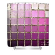Pink Color Chart Shower Curtain