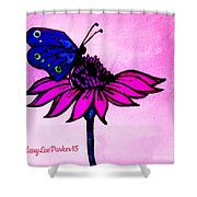 Pink Day  Shower Curtain
