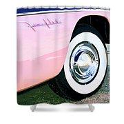 Pink Desoto Fireflite Shower Curtain