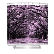Pink Dream World With White Framing Shower Curtain