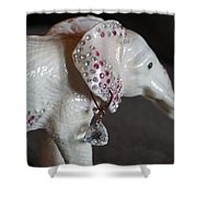 Pink Elliefont Earring Shower Curtain