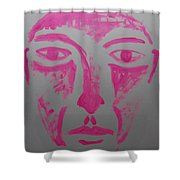Pink Face  Shower Curtain