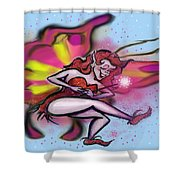 Pink Faerie Shower Curtain