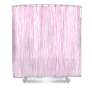 Pink Fiber Shower Curtain