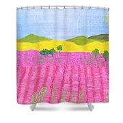 Pink Field Shower Curtain