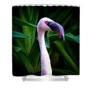 Pink Flamingo Bliss Shower Curtain