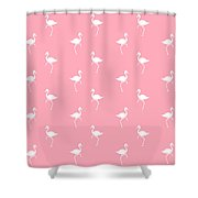 Pink Flamingos Pattern Shower Curtain