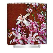 Pink Floral Arrangement Shower Curtain