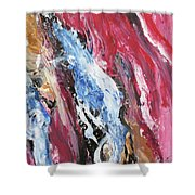 Pink Flow Abstract Shower Curtain