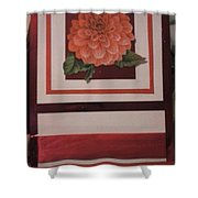 Pink Flower Greeting Card Shower Curtain
