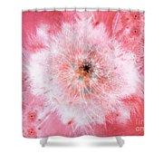 Pink Flower Power Shower Curtain