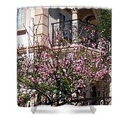 Pink Flower Tree. Elegant Shower Curtain