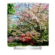 Pink Flowering Dogwood Shower Curtain
