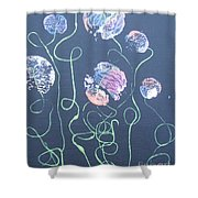 Pink Flowers - 4 Shower Curtain