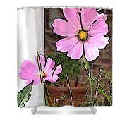 Pink Flowers Of Summer Shower Curtain