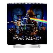 Pink Floyd Montage Shower Curtain