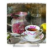 Pink For Tea Shower Curtain