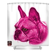 Pink French Bulldog Pop Art - 0755 Wb Shower Curtain