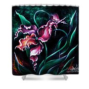Pink Fuschia Orchid. Dance Of The Nature Shower Curtain