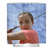 Pink Girl Pre Swing 02 Shower Curtain