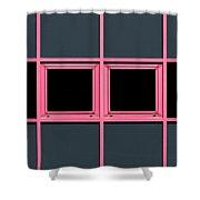 Pink Grid Shower Curtain