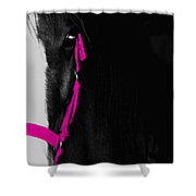 Pink Halter Shower Curtain