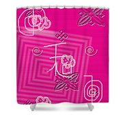 Pink Happiness Shower Curtain
