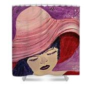 Pink Hat Shower Curtain