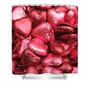 Pink Heart Chocolates I Shower Curtain
