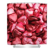 Pink Heart Chocolates II Shower Curtain