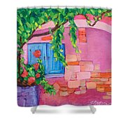 Pink Home Shower Curtain