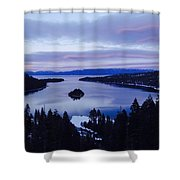 Pink Hues On Emerald Bay Shower Curtain