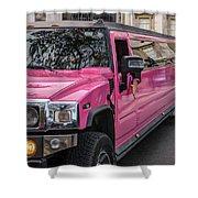 Pink Hummer At Trafalgar Shower Curtain