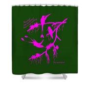 Pink Hummingbirds Shower Curtain