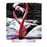 Pink Infinity Whimsical Shower Curtain