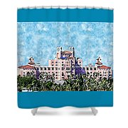 Pink Lady Don Cesar Watercolor Shower Curtain
