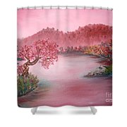 Pink Lake Shower Curtain