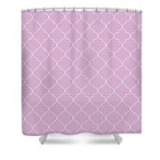 Pink Lavender Quatrefoil Shower Curtain