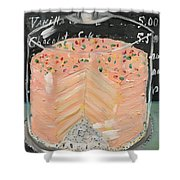 Pink Layer Cake Shower Curtain