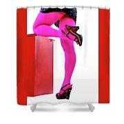 Pink Legs Shower Curtain