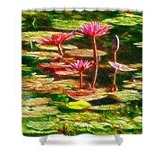 Pink Lotus Flower 2 Shower Curtain