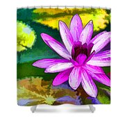 Pink Lotus Gallery  Shower Curtain