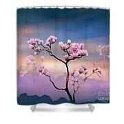 Pink Magnolia - Bright Version Shower Curtain